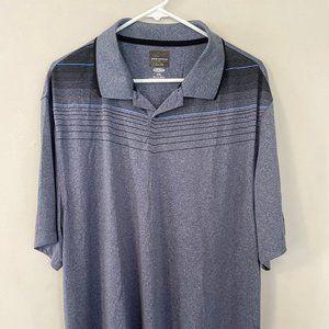 Greg Norman Polo Golf Shirt XXL 2XL Blue Striped